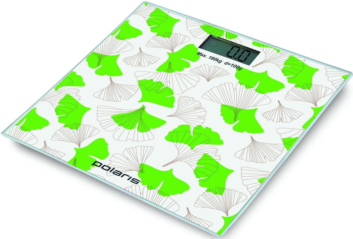 Polaris PWS 1855DG напольные весы7425Polaris PWS 1855DG - напольные весы, выполненные в стильном дизайне. Одновременно с этим вас удивит и функциональность данного устройства: теперь вы легко сможете контролировать свой вес, а значит, вести здоровый образ жизни. Для вашего удобства в весах предусмотрена возможность с высокой точностью определять массу тела в килограммах, фунтах и унциях. Платформа данной модели выполнена из высокопрочного закаленного стекла, что позволит использовать весы годами и не переживать за их сохранность. Максимально допустимый вес - 180 кг. Все данные отобразятся на удобном жидкокристаллическом дисплее. Для того, чтобы сохранить заряд батареи в весах используется функция автоматического отключения.