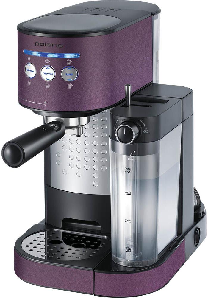 Polaris PCM 1525E Adore Cappuccino кофеварка7733Кофеварка Polaris PCM 1525E Adore Cappuccino предназначена для приготовления кофе из предварительно размолотых зёрен путём прохождения под давлением нагретой питьевой воды через слой молотого кофе, находящегося в фильтре. Она поможет не только проснуться, но получить отличный заряд бодрости на весь день. Polaris PCM 1525E - совершенство технологий и стиля: давление в 15 бар идеально подходит для создания кофе с интенсивным ароматом. А благодаря компактному размеру, стильному матовому покрытию и мягкой подсветке кнопок кофеварка станет украшением вашей кухни.