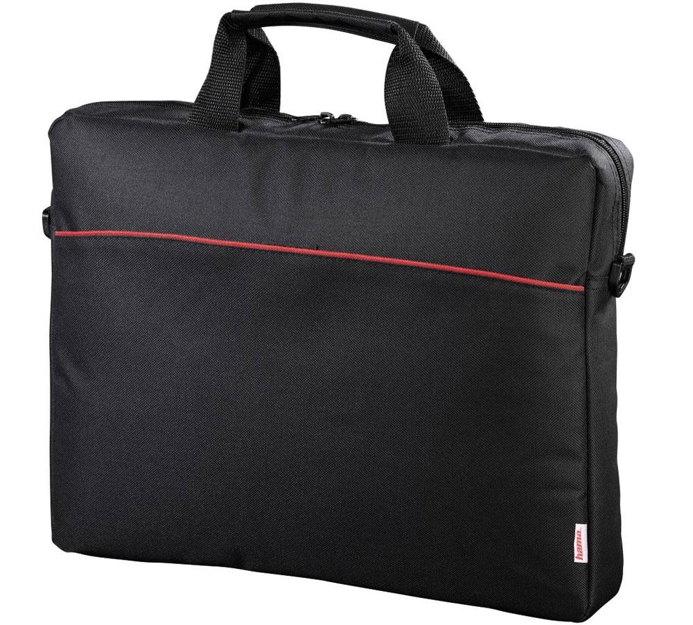 Hama Tortuga, Black сумка для ноутбука 17.3 (00101240)101240Сумка Hama Tortuga - это незаменимый аксессуар для людей, чья жизнь проходит в постоянном движении. Обладая эргономичной ручкой и удобным плечевым ремнем, обеспечивающих максимальный комфорт при переноске, она идеально подойдет для ноутбуков с диагональю до 17.3 дюймов. Данная модель оснащена передним карманом на липучке для быстрого доступа к вашим вещам и основным отделением на молнии. Отсутствие дополнительных отделений и карманов делают ее легкой и простой в использовании.