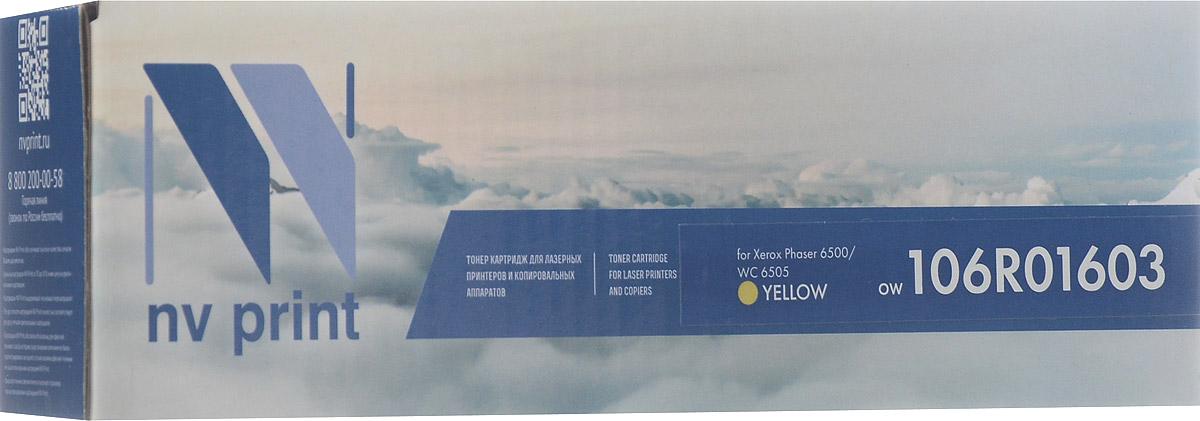 NV Print 106R01603, Yellow тонер-картридж для Xerox Phaser 6500/WorkCentre 6505NV-106R01603YСовместимый лазерный картридж NV Print 106R01603Y для печатающих устройств Xerox Phaser 6500/WorkCentre 6505 - это альтернатива приобретению оригинальных расходных материалов. При этом качество печати остается высоким. Тонер картриджи NV Print, спроектированные и разработанные с применением передовых технологий, наилучшим образом приспособлены для эффективной работы печатного устройства. Все компоненты оптимизируют процесс печати и идеально сочетаются в течение всего времени работы, что дает вам неизменно качественные результаты при использовании вашего лазерного принтера. Лазерные принтеры, копировальные аппараты и МФУ являются более выгодными в печати, чем струйные устройства, так как лазерных картриджей хватает на значительно большее количество отпечатков, чем обычных. Для печати в данном случае используются не чернила, а тонер.