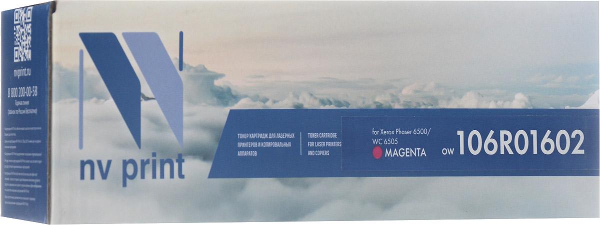 NV Print 106R01602, Magenta тонер-картридж для Xerox Phaser 6500/WorkCentre 6505NV-106R01602MСовместимый лазерный картридж NV Print 106R01602M для печатающих устройств Xerox Phaser 6500/WorkCentre 6505 - это альтернатива приобретению оригинальных расходных материалов. При этом качество печати остается высоким. Тонер картриджи NV Print, спроектированные и разработанные с применением передовых технологий, наилучшим образом приспособлены для эффективной работы печатного устройства. Все компоненты оптимизируют процесс печати и идеально сочетаются в течение всего времени работы, что дает вам неизменно качественные результаты при использовании вашего лазерного принтера. Лазерные принтеры, копировальные аппараты и МФУ являются более выгодными в печати, чем струйные устройства, так как лазерных картриджей хватает на значительно большее количество отпечатков, чем обычных. Для печати в данном случае используются не чернила, а тонер.
