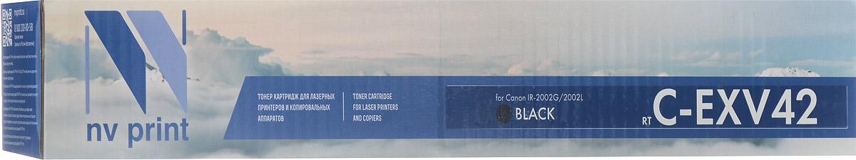 NV Print CEXV42, Black тонер-туба для Canon iR-2002NV-CEXV42Совместимый лазерный картридж NV Print CEXV42 для печатающих устройств Canon iR-2002 - это альтернатива приобретению оригинальных расходных материалов. При этом качество печати остается высоким. Тонер-туба NV Print C-EXV42 спроектирована и разработана с применением передовых технологий, наилучшим образом приспособлена для эффективной работы печатного устройства. Все компоненты оптимизируют процесс печати и идеально сочетаются в течение всего времени работы, что дает вам неизменно качественные результаты при использовании вашего лазерного принтера.