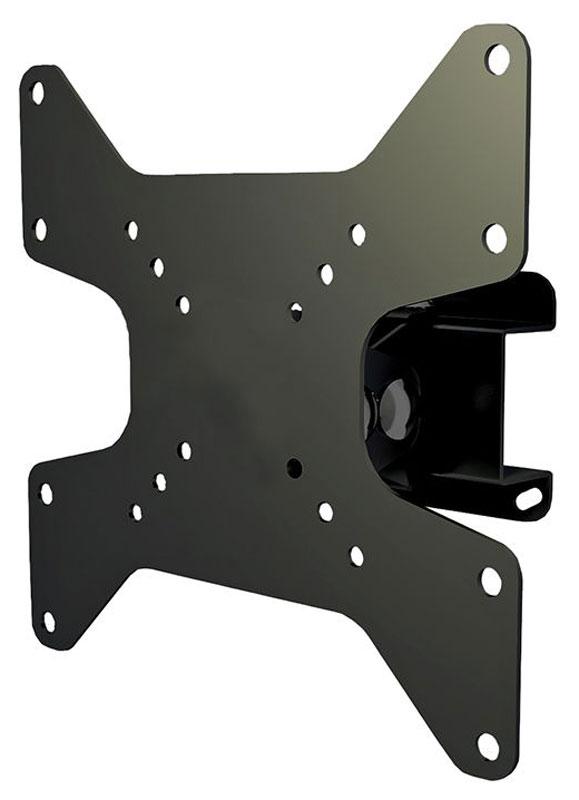 Mart 305S, Black кронштейн для ТВ1255967Mart 305S - надежный кронштейн для вашего телевизора. Максимальная нагрузка составляет 25 кг, а угол поворота до 30°. Данный кронштейн поможет организовать пространство в гостиной или любой другой комнате. Ведь гораздо удобнее, когда телевизор установлен не на столе или тумбе, а на стене.