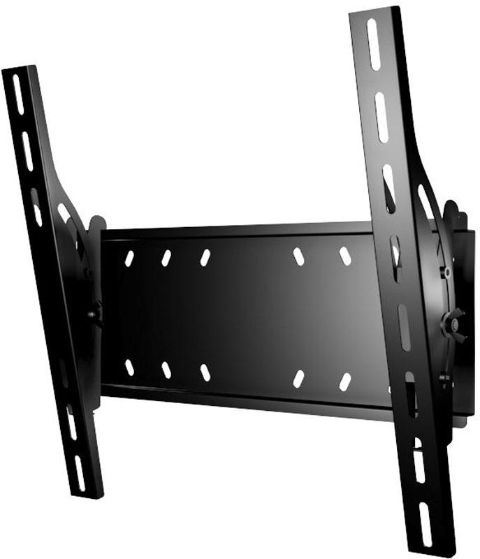 Mart 402S, Black кронштейн для ТВ1255971Mart 402S - надежный кронштейн с для вашего телевизора. Максимальная нагрузка составляет 70 кг, а угол наклона до 15°. Данный кронштейн поможет организовать пространство в гостиной или любой другой комнате. Ведь гораздо удобнее, когда телевизор установлен не на столе или тумбе, а на стене.