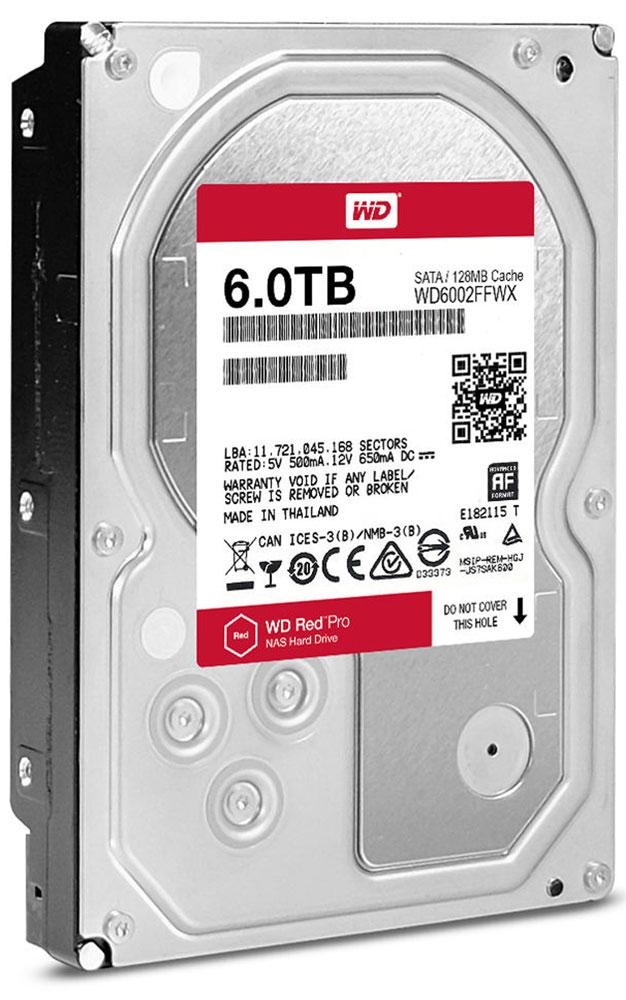 WD Red Pro 6TB внутренний жесткий диск (WD6002FFWX)WD6002FFWXОснастите свою систему NAS накопителями WD Red Pro, чтобы выполнять различные действия с той же скоростью, с которой работает ваша компания, и легко интегрируйте их в имеющуюся сетевую инфраструктуру. Используя специализированные накопители WD Red Pro для NAS, вы делаете свой бизнес эффективнее, ведь ваши сотрудники могут быстро обмениваться файлами и надежно архивировать результаты работы. Многоосный датчик автоматически обнаруживает трудноуловимые сотрясения, которые могут возникать в системах NAS большой емкости, а система динамического управления высотой полета головок компенсирует эти движения, защищая тем самым данные. Доступная для загрузки бесплатная программа Acronis True Image WD Edition позволяет клонировать диски, а также создавать резервные копии операционной системы, приложений, настроек и всех данных.