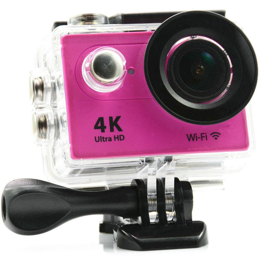 Eken H9 Ultra HD, Pink экшн-камераH9_pinkЭкшн-камера Eken H9 Ultra HD позволяет записывать видео с разрешением 4К и очень плавным изображением до 30 кадров в секунду. Камера оснащена 2 TFT LCD экраном. Эта модель сделана для любителей спорта на улице, подводного плавания, скейтбординга, скай-дайвинга, скалолазания, бега или охоты. Снимайте с руки, на велосипеде, в машине и где угодно. По сравнению с предыдущими версиями, в Eken H9 Ultra HD вы найдете уменьшенные размеры корпуса, увеличенный до 2-х дюймов экран, невероятную оптику и фантастическое разрешение изображения при съемке 30 кадров в секунду! Управляйте вашей H9 на своем смартфоне или планшете. Приложение Ez iCam App позволяет работать с браузером и наблюдать все то, что видит ваша камера.