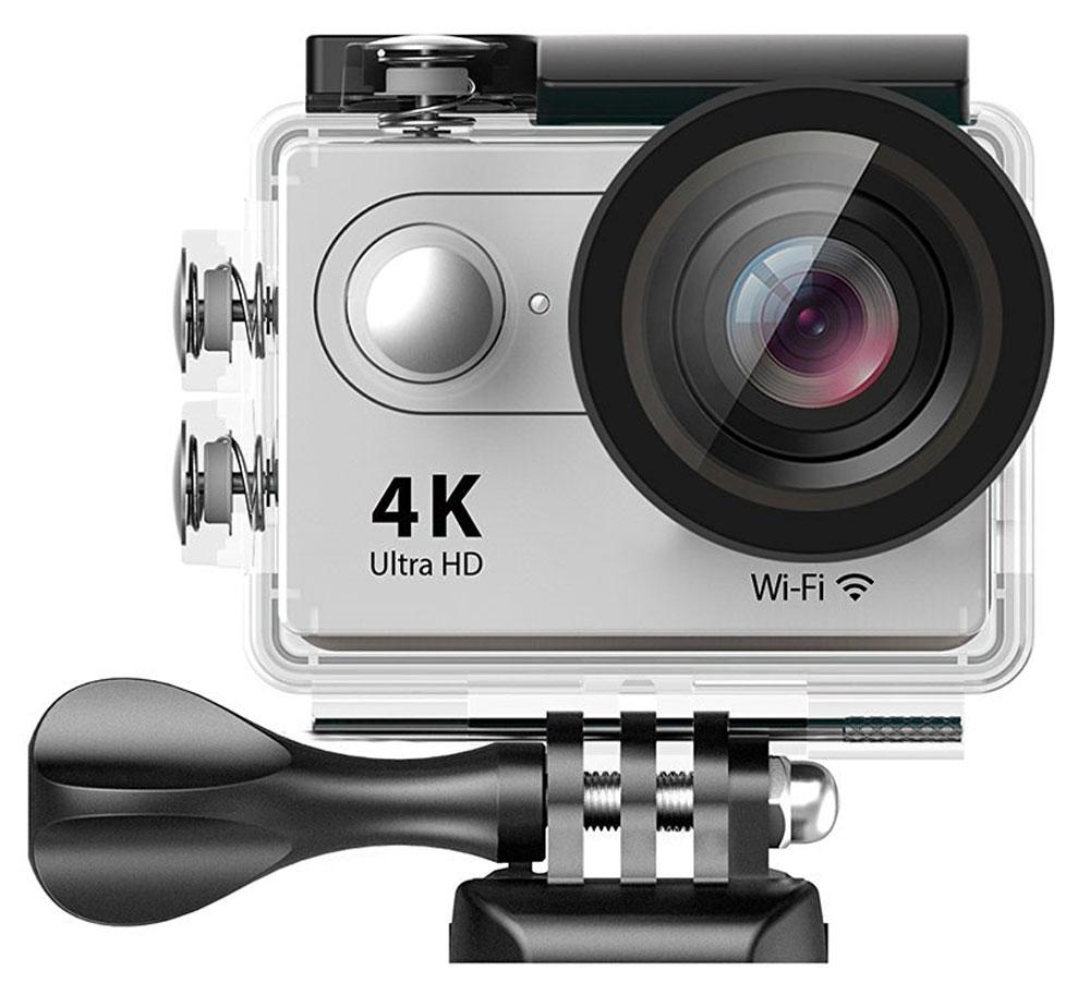 Eken H9 Ultra HD, Silver экшн-камераH9_silverЭкшн-камера Eken H9 Ultra HD позволяет записывать видео с разрешением 4К и очень плавным изображением до 30 кадров в секунду. Камера оснащена 2 TFT LCD экраном. Эта модель сделана для любителей спорта на улице, подводного плавания, скейтбординга, скай-дайвинга, скалолазания, бега или охоты. Снимайте с руки, на велосипеде, в машине и где угодно. По сравнению с предыдущими версиями, в Eken H9 Ultra HD вы найдете уменьшенные размеры корпуса, увеличенный до 2-х дюймов экран, невероятную оптику и фантастическое разрешение изображения при съемке 30 кадров в секунду! Управляйте вашей H9 на своем смартфоне или планшете. Приложение Ez iCam App позволяет работать с браузером и наблюдать все то, что видит ваша камера.