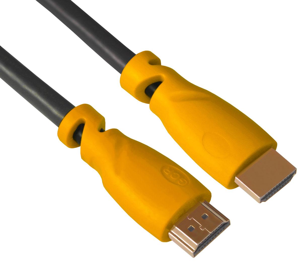 Greenconnect GCR-HM340 кабель HDMI (1 м)GCR-HM340-1.0mКабель HDMI v 1.4 Greenconnect GCR-HM340 - отличное решение для подключения компьютера, игровых консолей, DVD и Blu-ray плееров, аудио-ресиверов к телевизору или дополнительному монитору. Кабель HDMI поддерживает как стандартные, так и высокие разрешения самых современных моделей телевизоров. Greenconnect GCR-HM340 поддерживает 4K, Full HD и HD разрешения. Это даёт возможность наслаждаться более точной и естественной картинкой с высочайшим уровнем детализации и диапазоном цветов. Использование кабеля позволяет передавать изображение в столь популярном формате 3D, усиливая элемент присутствия и позволяя получать удовольствие от качественного объёмного изображения. Кабель оснащен двунаправленным каналом для передачи сетевых данных, который подходит для использования IP-приложениями. Канал Ethernet позволяет нескольким устройствам работать в сети Ethernet без необходимости подключения дополнительных проводов, а также напрямую обмениваться контентом. Наличие...