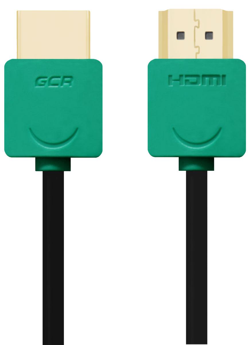 Greenconnect GCR-HM520 кабель HDMI (0,5 м)GCR-HM520-0.5mКабель HDMI v 1.4 Greenconnect GCR-HM520 - отличное решение для подключения компьютера, игровых консолей, DVD и Blu-ray плееров, аудио-ресиверов к телевизору или дополнительному монитору. Кабель HDMI поддерживает как стандартные, так и высокие разрешения самых современных моделей телевизоров. Greenconnect GCR-HM520 поддерживает 4K, Full HD и HD разрешения. Это даёт возможность наслаждаться более точной и естественной картинкой с высочайшим уровнем детализации и диапазоном цветов. Использование кабеля позволяет передавать изображение в столь популярном формате 3D, усиливая элемент присутствия и позволяя получать удовольствие от качественного объёмного изображения. Кабель оснащен двунаправленным каналом для передачи сетевых данных, который подходит для использования IP-приложениями. Канал Ethernet позволяет нескольким устройствам работать в сети Ethernet без необходимости подключения дополнительных проводов, а также напрямую обмениваться контентом. ...
