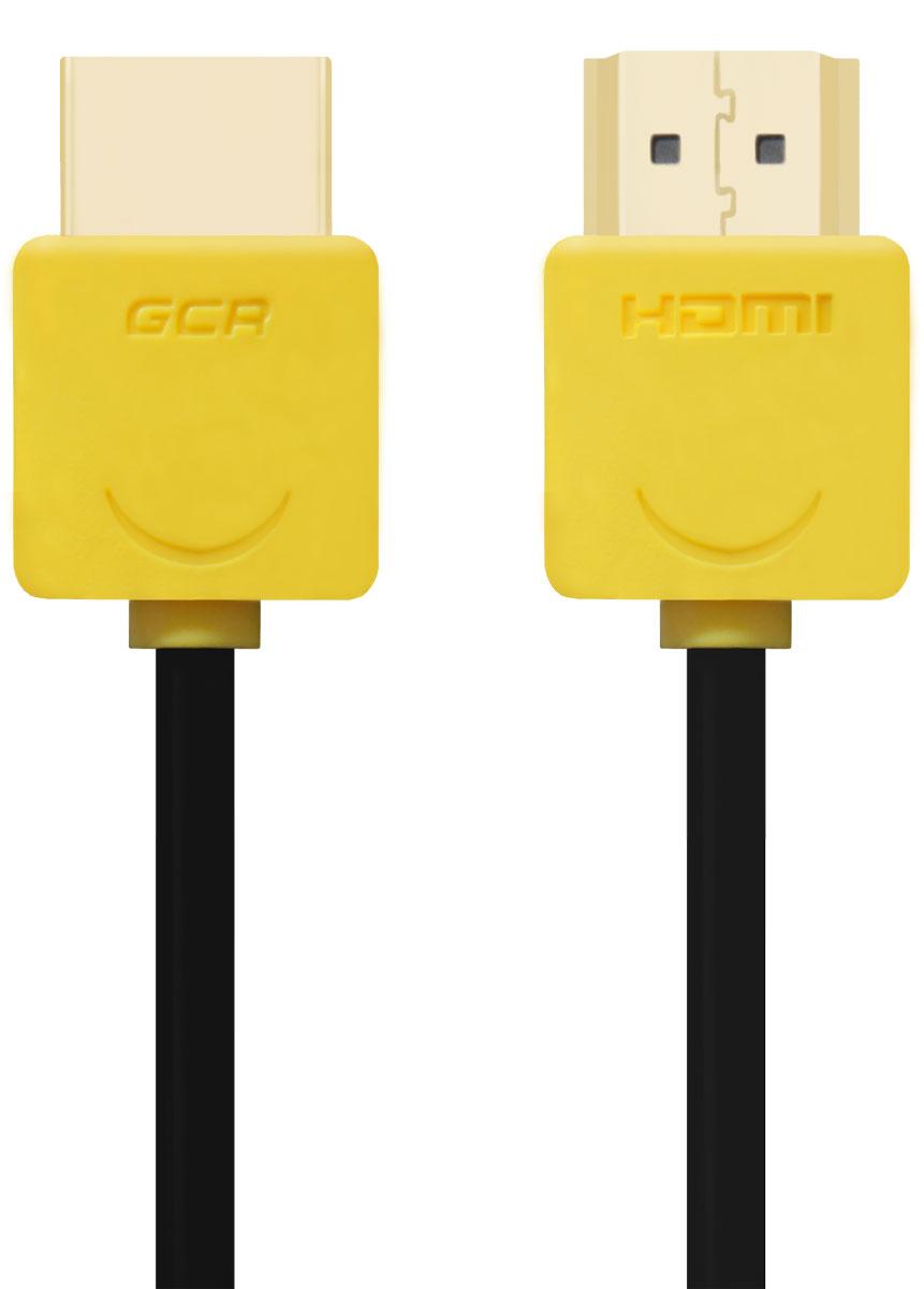 Greenconnect GCR-HM540 кабель HDMI (0,5 м)GCR-HM540-0.5mКабель HDMI v 1.4 Greenconnect GCR-HM540 - отличное решение для подключения компьютера, игровых консолей, DVD и Blu-ray плееров, аудио-ресиверов к телевизору или дополнительному монитору. Кабель HDMI поддерживает как стандартные, так и высокие разрешения самых современных моделей телевизоров. Greenconnect GCR-HM540 поддерживает 4K, Full HD и HD разрешения. Это даёт возможность наслаждаться более точной и естественной картинкой с высочайшим уровнем детализации и диапазоном цветов. Использование кабеля позволяет передавать изображение в столь популярном формате 3D, усиливая элемент присутствия и позволяя получать удовольствие от качественного объёмного изображения. Кабель оснащен двунаправленным каналом для передачи сетевых данных, который подходит для использования IP-приложениями. Канал Ethernet позволяет нескольким устройствам работать в сети Ethernet без необходимости подключения дополнительных проводов, а также напрямую обмениваться контентом. ...