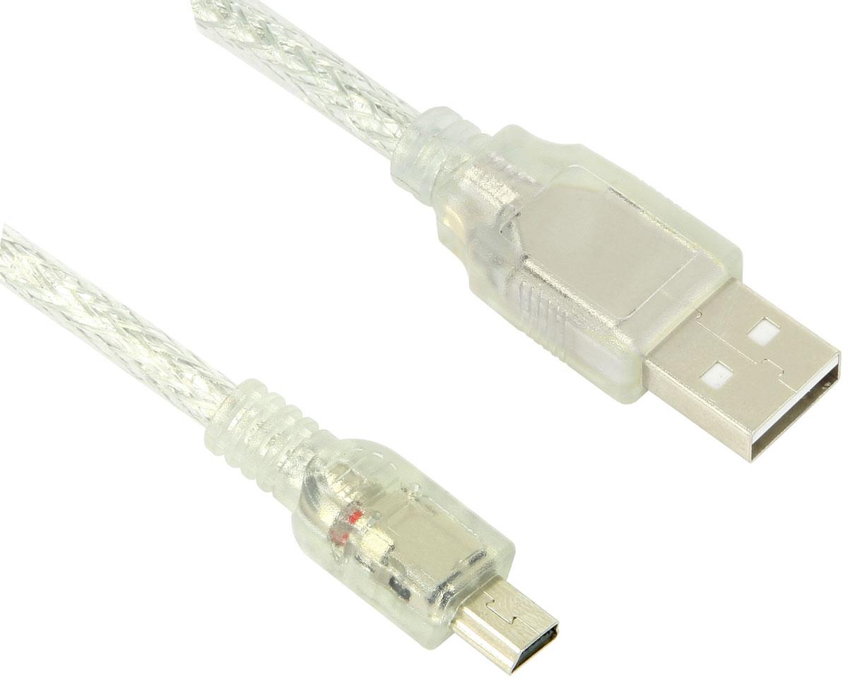 Greenconnect GCR-UM1M5P-BD2S кабель miniUSB-USB (1,8 м)GCR-UM1M5P-BD2S-1.8mКабель Greenconnect GCR-UM1M5P-BD2S позволит подключать фото и видео камеры, мобильные телефоны, смартфоны, планшеты и другие устройства с разъемом miniUSB к USB разъему компьютера. Подходит для повседневных задач, таких как синхронизация данных, зарядка устройства и передача файлов. Экранирование кабеля позволяет защитить сигнал при передаче от влияния внешних полей, способных создать помехи.