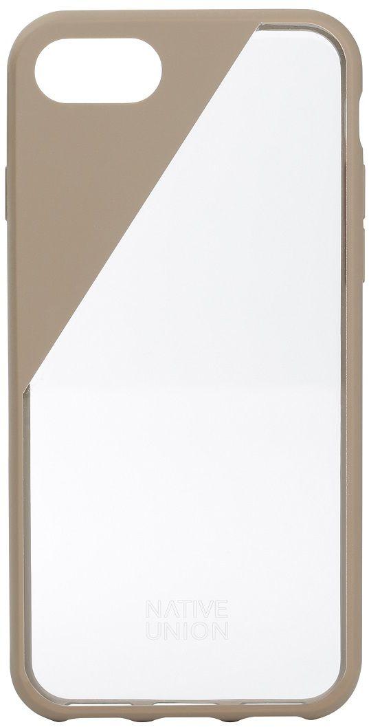 Native Union Clic Crystal чехол для iPhone 7, BeigeCLICCRL-TAU-7Чехол Native Union Clic Crystal идеально подстраивается под iPhone 7, практически не увеличивая его в размерах. Выполнен из ударопоглощающих полимеров, защищающих от падений. Выступающая рамка по бокам экрана обеспечит его целостность. Имеется свободный доступ ко всем разъемам и кнопкам устройства. Чехол Native Union Clic Crystal сохраняет оригинальный стиль iPhone. Основным элементом задней панели выступает прочный и прозрачный поликарбонат, оставляющий лидерство дизайна за металлическим корпусом iPhone. Тем не менее, стиль Native Union всё равно легко узнается благодаря отличительному, резкому скосу эластичного бампера.