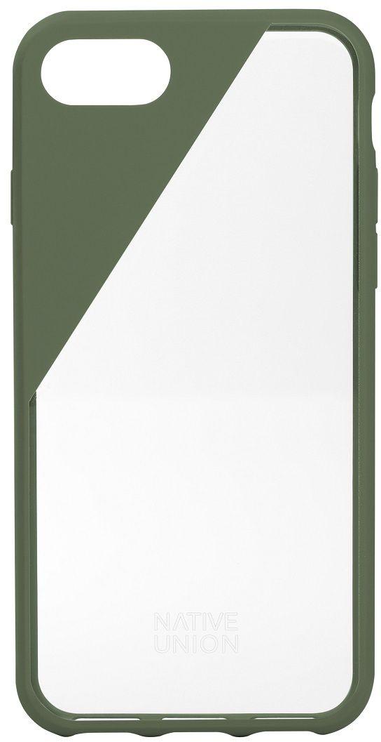 Native Union Clic Crystal чехол для iPhone 7, Olive CLICCRL-OLI-7