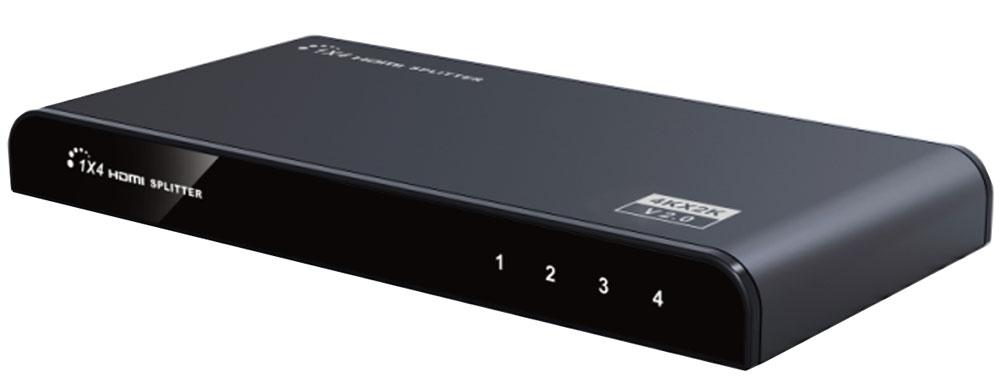 Greenconnect GL-314-V2.0 разветвительGL-314-V2.0Разветвитель Greenconnect GL-314-V2.0 предназначен для подключения одного устройства воспроизведения HD-видео к четырем мониторам или телевизорам, оснащенным разъемом HDMI. При помощи разветвителя можно воспроизводить высококачественное изображение на демонстрационном стенде или в магазине техники, транслировать спортивные мероприятия или развлекательные шоу в баре или клубе, показывать обучающие и научные передачи в образовательных учреждениях, выводя изображение на несколько экранов одновременно. Модель оснащена усилителем сигнала, что дает возможность использовать кабели HDMI длиной до 15 м от источника сигнала до сплиттера и до 25 м - до устройства воспроизведения. Такая длина позволяет создать максимально удобную и эффективную инфраструктуру трансляции видео. Greenconnect GL-314-V2.0 соответствует стандарту HDMI v2.0 и поддерживает разрешение видео до UltraHD 4Kx2K и трансляцию 3D изображения, а значит качество картинки на экране будет отличным, демонстрация...