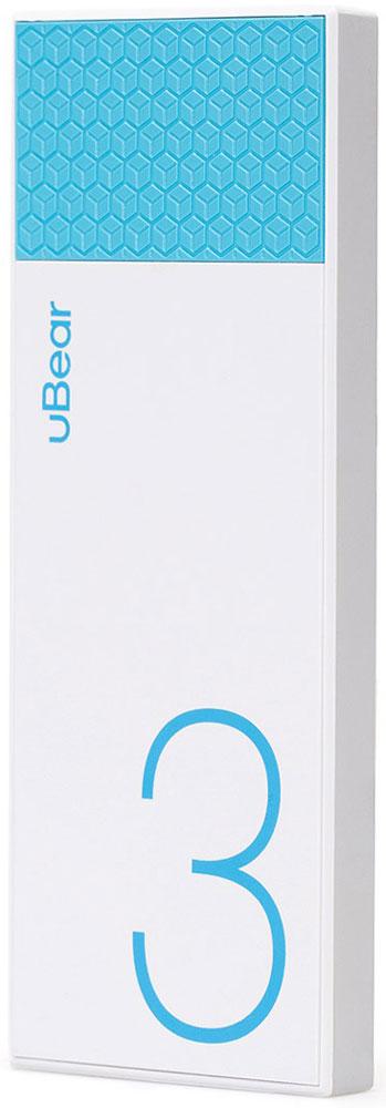 uBear Light 3000, White Light Blue внешний аккумулятор