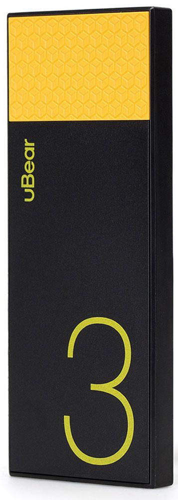 uBear Light 3000, Black Yellow внешний аккумулятор
