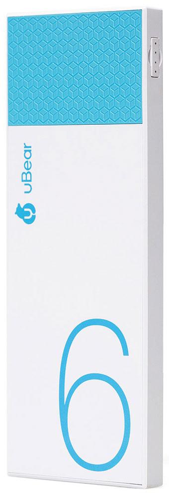 uBear Light 6000, White Light Blue внешний аккумуляторPB05LB6000-ADВнешний аккумулятор uBear Light 6000 покорит вас своим внешним видом с первого взгляда. Высококачественный пластик и невероятно тонкий дизайн. Аккумулятор прекрасно будет сочетаться с вашим смартфоном или планшетом, поддерживая их изящный стиль. Технические характеристики на высоте: LED-индикатор заряда, защита от короткого замыкания, перегрева, большое количество циклов перезарядки.