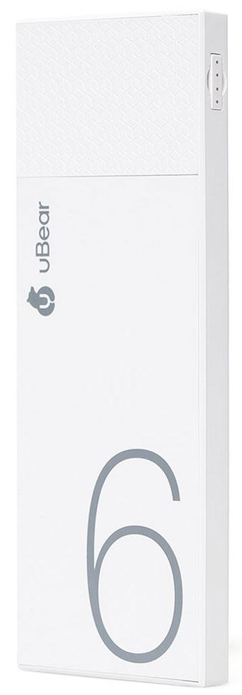 uBear Light 6000, White внешний аккумуляторPB05WH6000-ADВнешний аккумулятор uBear Light 6000 покорит вас своим внешним видом с первого взгляда. Высококачественный пластик и невероятно тонкий дизайн. Аккумулятор прекрасно будет сочетаться с вашим смартфоном или планшетом, поддерживая их изящный стиль. Технические характеристики на высоте: LED-индикатор заряда, защита от короткого замыкания, перегрева, большое количество циклов перезарядки.