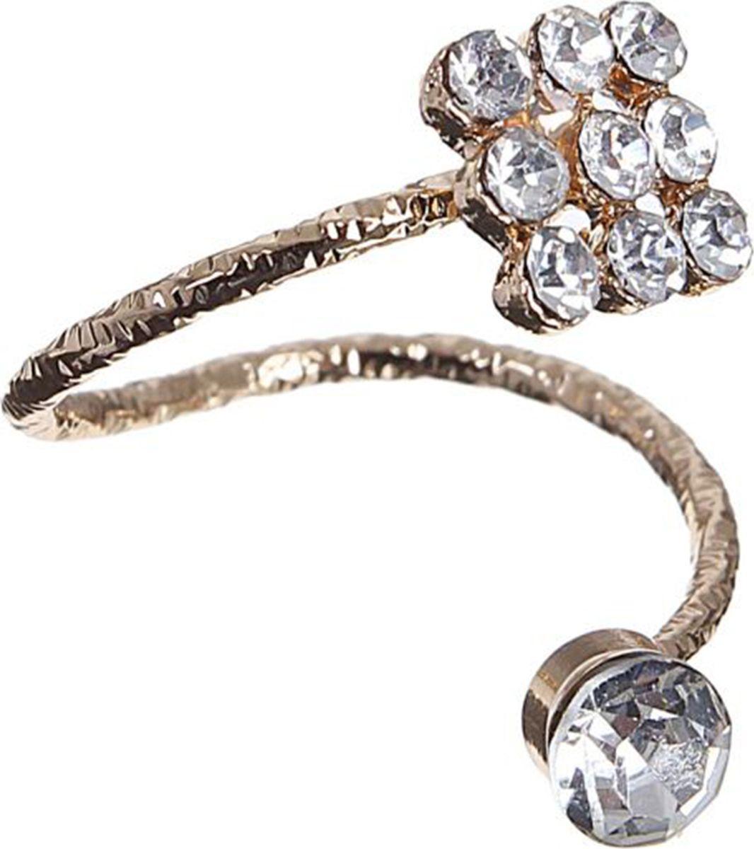 Кольцо Mitya Veselkov Классика, цвет: золотистый. 15033461503346Оригинальное кольцо Mitya Veselkov Классика изготовлено из гипоаллергенного бижутерного сплава. Изделие выполнено с вкраплениями из страз.
