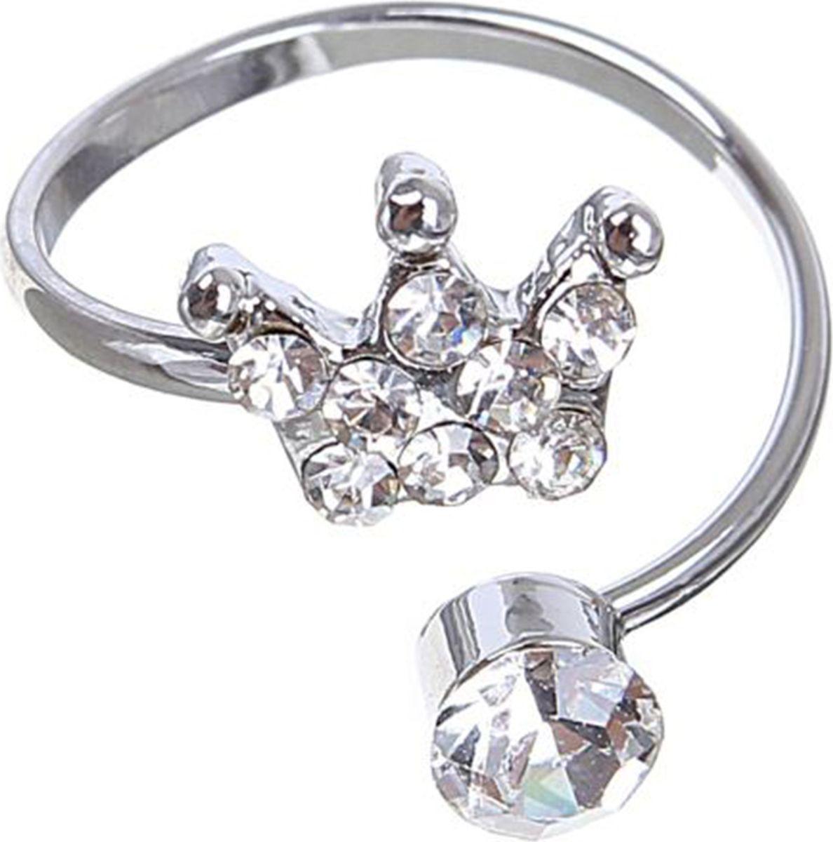 Кольцо Mitya Veselkov Корона, цвет: серебристый. 15033501503350Оригинальное кольцо Mitya Veselkov Корона изготовлено из гипоаллергенного бижутерного сплава. Изделие выполнено в виде короны с вкраплениями из страз.