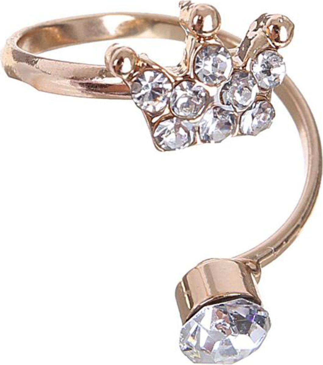 Кольцо Mitya Veselkov Корона, цвет: золотистый. 15033491503349Оригинальное кольцо Mitya Veselkov Корона изготовлено из гипоаллергенного бижутерного сплава. Изделие выполнено в виде короны с вкраплениями из страз.