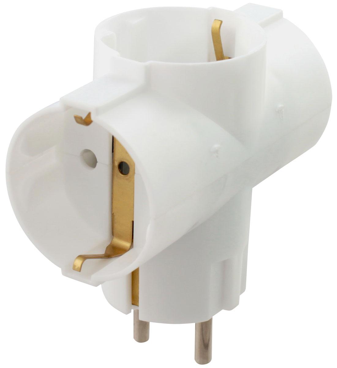 Адаптер сетевой Старт SA1/3-Z на 3 розетки05513Адаптер Старт SA1/3-Z с тремя гнездами изготовлен из негорючего РР- пластика. Корпус адаптера неразборный и обладает ударопрочными свойствами. Контакты заземления и электрические контакты выполнены из латуни, что предотвращает их ломкость. Заземление делает адаптер безопаснее и позволяет избежать коротких замыканий и поражения электрическим током.