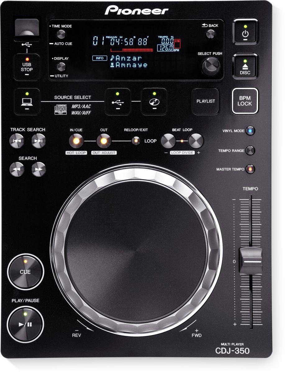 Pioneer CDJ-350 DJ проигрыватель375305Pioneer CDJ-350 - качественный CD проигрыватель, который воспроизводит все профессиональные и популярные форматы с CD или USB. Соответствует новому клубному стандарту CDJ-2000. Кроме того, USB-подключение позволяет осуществлять управление совместимыми программами для диджеев, а также MIDI-управление. CDJ-350 — это аудио интерфейс и контроллер в одном устройстве. В комплект входит Rekordbox, программное обеспечение, которое анализирует BPM и положение долей в музыкальных композициях вашей библиотеки. По завершении подготовки вы сможете экспортировать свои музыкальные композиции и плейлисты на USB устройство, чтобы иметь возможность их выбора по названию альбома, имени исполнителя или жанру на своем CDJ-350. Впервые в индустрии диджеи могут создавать и редактировать плейлисты непосредственно на плеере. Блокировка BPM позволяет вам подбирать темп музыкальных композиций с помощью всего лишь одной кнопки. Установите BPM и вся музыка будет воспроизводиться на этой...