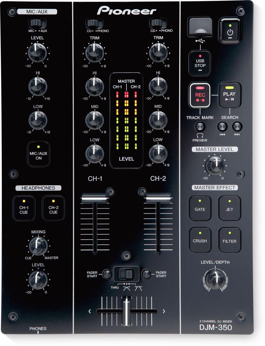 Pioneer DJM-350 микшерный пульт375315Pioneer DJM-350 - идеальный маленький микшерный пульт для начинающих с интуитивным управлением и функциями из современных клубных продуктов, такими как мощный блок эффектов, запись на USB, трехполосный эквалайзер изоляторного типа для независимого широкополосного управления по каналам. Данная модель позволит создавать оригинальные и креативные миксы, став сердцем вашего сетапа. Микс достоин того, чтобы его услышали? С USB-портом, который есть в DJM-350, вы можете выполнить запись непосредственно на USB-носитель без необходимости использовать компьютер или записывающее устройство. Музыка сохраняется в виде высококачественных WAV-файлов, к которым вы можете добавить маркировку треков во время воспроизведения непосредственно на микшере. По завершении микс легко импортировать и редактировать на компьютере. Серия DJM славится своим качественным звучанием. На компактном микшерном пульте Pioneer DJM-350 аналоговый сигнал конвертируется в цифровой через самую короткую...