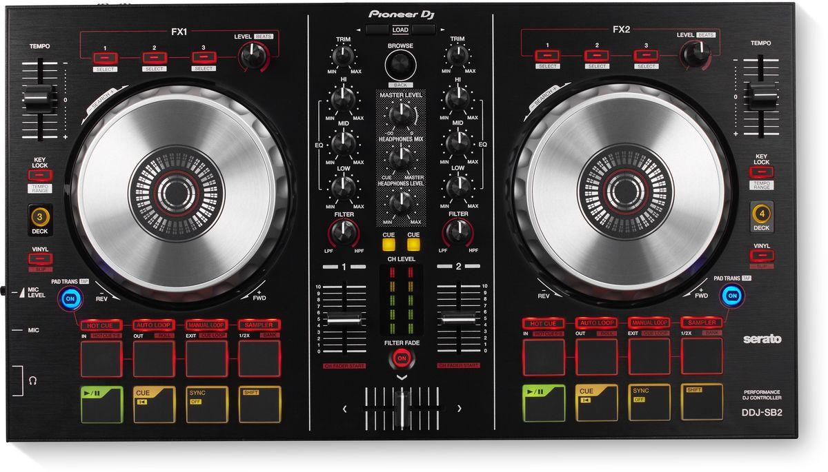 Pioneer DDJ-SB2 DJ контроллер для начинающих сумка для cd и dvd плеера bubm sb dj gear dj bagpack ddj wego sb ddj sp cd dj ddj sb