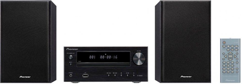 Pioneer X-HM16-B музыкальный центрX-HM16-B2х15Вт Class D. FM радио 30 станций. Функция усиление баса. CD/ CD-R,RW (MP3). USB (MP3).