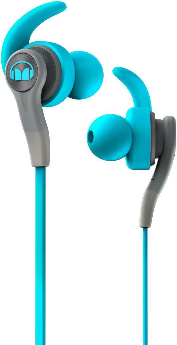 Monster iSport Compete In-Ear, Blue наушники137083-00Хотите выжать максимум из своих спортивных наушников? Тогда Monster iSport Compete In-Ear для вас! Запатентованные технологии Monster делают эти наушники лидером среди спортивных моделей. Технология Pure Monster Sound обеспечивает чистый и мощный звук, а сменные насадки - абсолютный комфорт при длительном ношении. Добавьте к этому высокую звукоизоляцию, защитное покрытие от воздействия пота и прочную конструкцию. Теперь у вас есть все для интенсивной тренировки!
