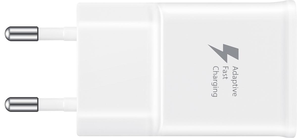 Samsung EP-TA20, White зарядное устройствоEP-TA20EWECGRUCетевое зарядное устройство Samsung EP-TA20 для зарядки совместимых мобильных устройств Samsung. В режиме быстрой зарядки аккумулятор устройства можно зарядить до 50% от полной ёмкости всего за полчаса (время может меняться в зависимости от условий зарядки и заряжаемого устройства).