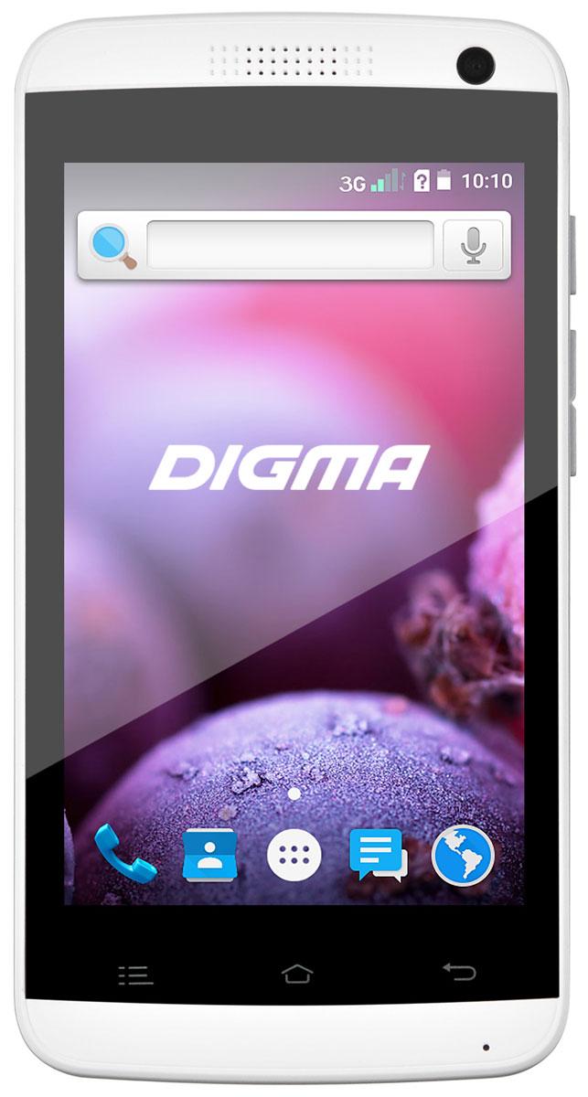 Digma Linx A401 3G, WhiteLT4018PG/WhiteDigma Linx A401 3G - компактный и доступный смартфон с 4-дюймовым сенсорным дисплеем, позволяющим получать доступ ко всем функциям при управлении одной рукой. Высокая яркость подсветки в сочетании с большой контрастностью TFT-матрицы делает использование устройства удобным в любых условиях. Данная модель позволяет ни на секунду не расставаться с любимыми сайтами, социальными сетями и онлайн-сервисами. Она укомплектовано передатчиком 3G, обеспечивающим высокую скорость передачи данных. Высокопроизводительный четырехъядерный процессор Spreadtrum SC7731 помогает сохранять отличное быстродействие системы даже при одновременном запуске нескольких приложений. В смартфоне также предусмотрен отдельный слот для карты microSD, за счет чего он не ограничивает доступный объем памяти при установке двух SIM-карт. Мобильное устройство снабжено двумя камерами - основной с яркой светодиодной вспышкой, подходящей для создания четких снимков, и фронтальной для...