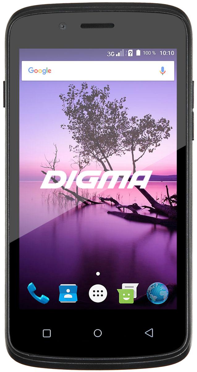 Digma Linx A420 3G, BlackLS4019PG_BlackDigma Linx A420 3G - компактный и доступный смартфон с 4,2-дюймовым сенсорным дисплеем, позволяющим получать доступ ко всем функциям при управлении одной рукой. IPS-матрица с высокой плотностью размещения пикселей позволяет получить превосходную детализацию, большую контрастность и насыщенные цвета. Данная модель позволяет ни на секунду не расставаться с любимыми сайтами, социальными сетями и онлайн- сервисами. Она укомплектовано передатчиком 3G, обеспечивающим высокую скорость передачи данных. Высокопроизводительный четырехъядерный процессор Spreadtrum SC7731G помогает сохранять отличное быстродействие системы даже при одновременном запуске нескольких приложений. Смартфон имеет два отдельных слота для сим-карт, что не мешает устанавливать карту памяти при одновременном использовании услуг разных мобильных операторов. Мобильное устройство снабжено двумя камерами - основной 5 Мпикс с яркой светодиодной вспышкой, подходящей для...