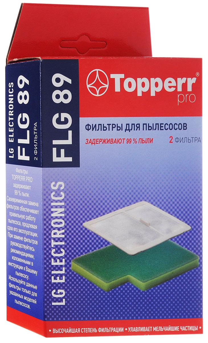 Topperr FLG 89 комплект фильтров для пылесосов LG Electronics1126Комплект фильтров Topperr FLG 89 предназначен для пылесосов LG ELECTRONICS серий: Kompressor Lite, Kompressor Plus, Kompressor Follow me, Kompressor Elite, Kompressor Elite Smart и аналогичных. Фильтры задерживают 99% пыли, продлевая срок службы Вашего пылесоса. В комплект входят: - Воздушный фильтр Моющийся фильтр длительного использования защищает двигатель пылесоса от попадания тяжелых частиц пыли. - Защитный фильтр электродвигателя Моющийся фильтр длительного использования защищает двигатель пылесоса от попадания мельчайших частиц пыли. Совместимые модели: LG серии Kompressor Lite: VC73..., VK89...; Kompressor Plus: VK882.; Kompressor Follow me: VC83..., VC888.., VK88401, VK88501; Kompressor Elite: VK801.., VK802..; Kompressor Elite Smart: VK81101
