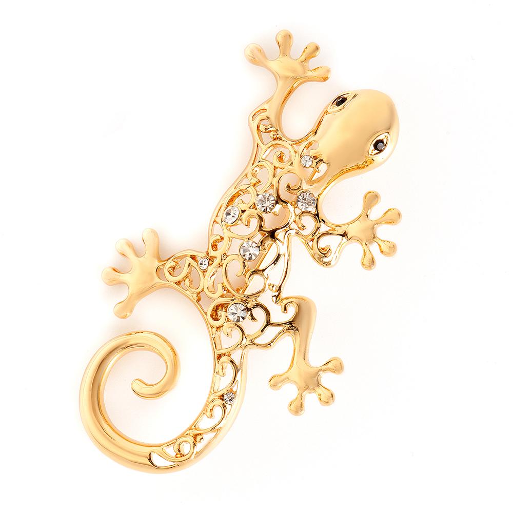Брошь Selena, цвет: золотистый. 3002810030028100Элегантная брошь Selena изготовлена из латуни с кристаллами Preciosa. Гальваническое покрытие: золото. Стильная брошь поможет дополнить любой образ и привнести в него завершающий яркий штрих.
