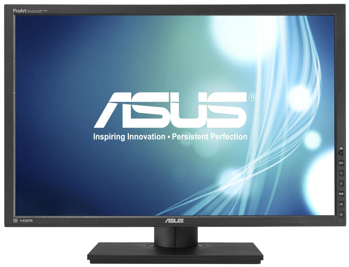 ASUS PA248Q, Black монитор90LMG0150Q00081C-Благодаря ЖК-матрице IPS монитор Asus PA248Q способен воспроизводить 100% цветового пространства sRGB. В сочетании с широкими углами обзора, это обеспечивает безупречно точную цветопередачу, которой также способствует тщательная фабричная калибровка. Кроме того, пользователь может подкорректировать цветопередачу по своему вкусу, воспользовавшись множеством предлагаемых в меню настроек. IPS-панель, высокое разрешение (1920 x 1200), светодиодная подсветка и широкие углы обзора (178°) делают Asus PA248Q универсальным монитором, который прекрасно подойдет не только для работы, но и для мультимедийных приложений и игр. Технология ASCR (Asus Smart Contrast Ratio) служит для автоматического изменения яркости подсветки в соответствии с характером текущего изображения. Она позволяет добиться высокой контрастности на уровне 80 000 000:1 и будет особенно полезной при просмотре фильмов. Модель PA248Q оснащена полным комплектом современных видеоинтерфейсов,...