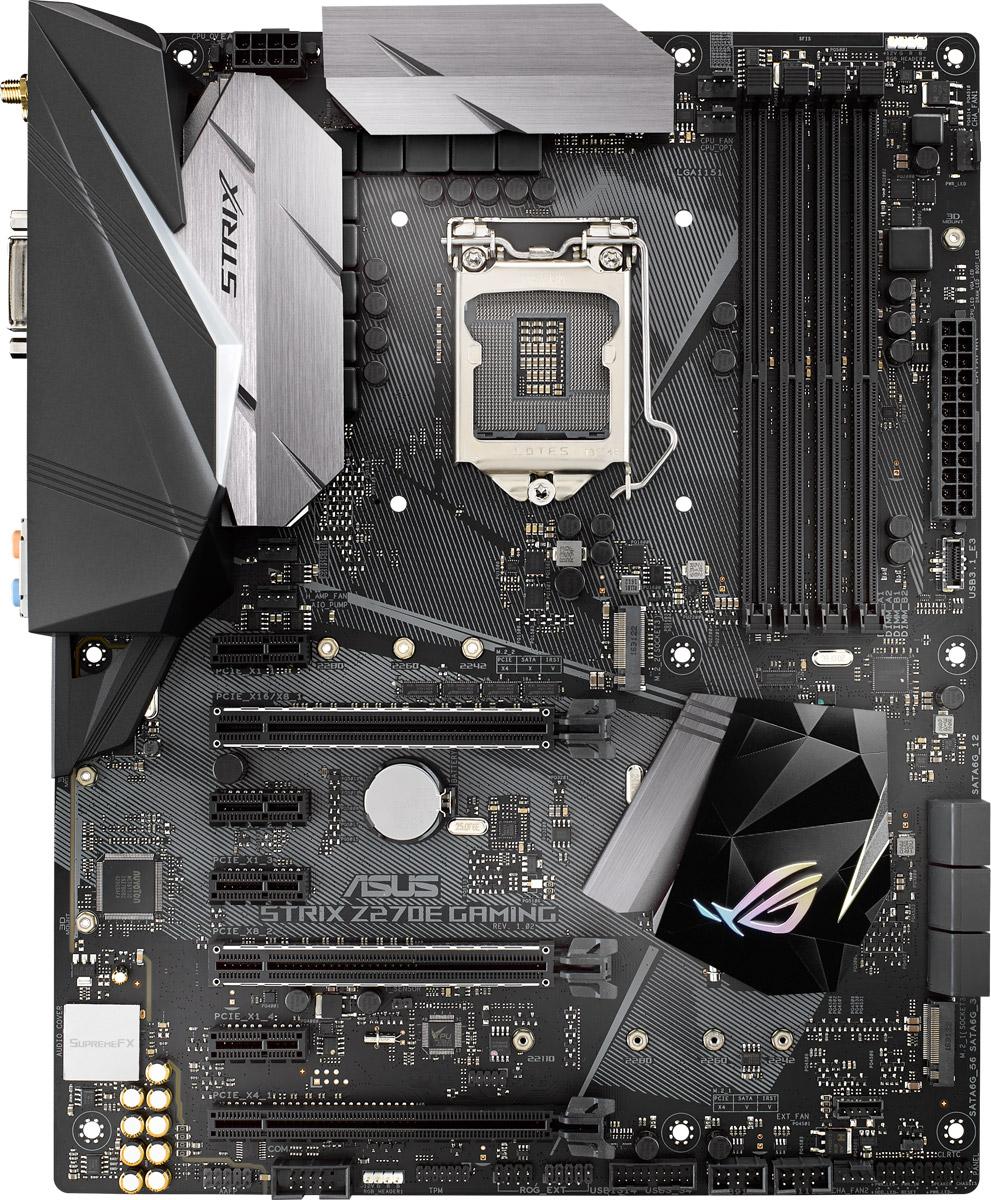 ASUS ROG STRIX Z270E GAMING материнская плата90MB0RN0-M0EAY0Геймерская ATX-плата для платформы Intel LGA 1151 с технологией синхронизации светодиодной подсветки Aura Sync, модулем Wi-Fi 802.11ac, поддержкой DDR4 3866 МГц, двумя разъемами M.2, портами SATA 6 Гбит/с, HDMI и USB 3.1 Type-C на передней панели В материнской плате ROG Strix Z270E Gaming сочетаются смелая эстетика, отличная производительность и невероятное качество звучания, которые подарят пользователям непревзойденные возможности для игр и подчеркнут их эксклюзивный геймерский стиль. Поддержка новейших процессоров и технологий Intel и эксклюзивные инновации ROG выводят производительность системы, построенной на базе данной платы, на новый уровень, чтобы предоставить геймеру полное преимущество над оппонентами. ROG Strix Z270E заряжает каждое движение игрока в игре мощной энергией и вооружает его несравненной скоростью и ловкостью. Присоединяйтесь к республике геймеров с ROG Strix Z270E Gaming и доминируйте в каждой игре! В комплект материнской платы входит удобная в работе утилита...