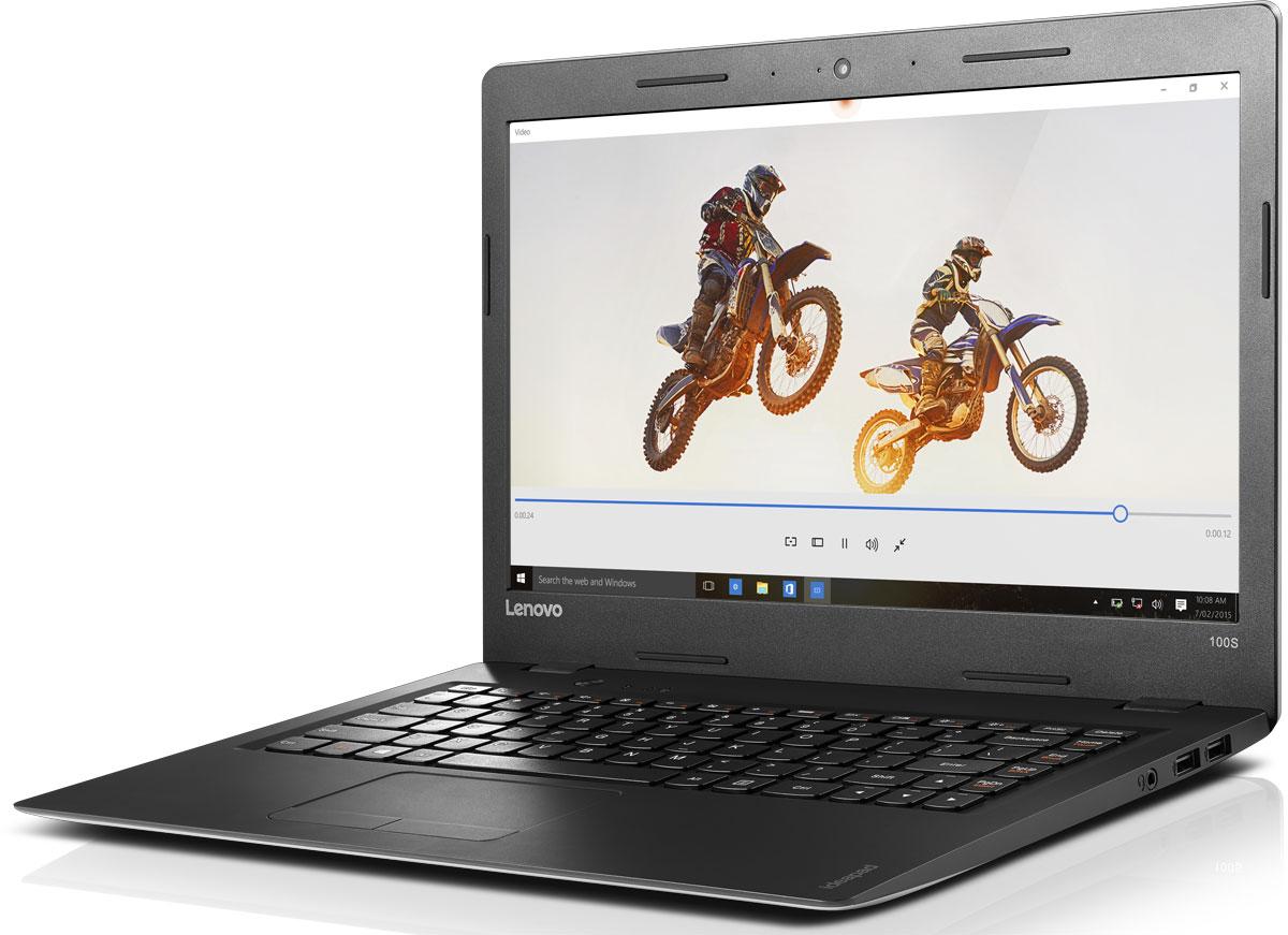 Lenovo IdeaPad 100S-14IBR, Silver (80R9008KRK)80R9008KRKЛегкий и тонкий ноутбук Lenovo IdeaPad 100S-14IBR разработан для современной жизни. Самые современные и надежные процессоры Intel обеспечивают высочайшую производительность. Они обеспечивают высокую скорость запуска, четкость и усовершенствованную графику. Lenovo IdeaPad 100S прост в использовании и способен работать до 7 часов от аккумулятора. Больше не придется повсюду таскать с собой тяжелый, неуклюжий ноутбук. При толщине всего в 18,6 мм и весе в 1,5 кг ноутбук Ideapad 100s превосходно впишется в вашу динамичную и насыщенную событиями жизнь. Ноутбук оснащен портами USB 3.0 и HDMI, а также удобным слотом для карты microSD, с помощью которой удобно хранить и переносить данные. Поддержка Wi-Fi 802.11 b/g/n и Bluetooth 4.0 позволит вам подключаться к сети Интернет, где бы вы ни находились. Наряду с уже знакомыми вам функциями Windows 10 Home оснащена множеством улучшений. Например, технология InstantGo обеспечивает быстрый...