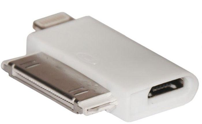 Continent ADP-3001WT переходник microUSB-30 pin/LightingADP-3001WT/OEMContinent ADP-3001WT - это компактный переходник, предназначенный для беспроблемного подключения устройств с выходными разъемами 30-pin и Lighting к коннектору microUSB. Данный переходник будет полезен для всех владельцев портативных мультимедийных устройств производства компании Apple с вышеуказанными выходными разъемами, которые пользуются и другими гаджетами, оснащенными разъемами microUSB. Данный переходник чрезвычайно компактен, что позволит с легкостью всегда брать его с собой. Кроме того Continent ADP-3001WT отличается высочайшей надежностью и продолжительным сроком службы.