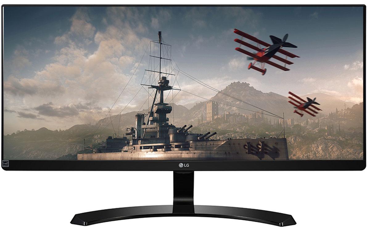 LG 29UM68-P, Black монитор29UM68-P.ARUZМонитор LG 29UM68-P с UltraWide экраном формата 21:9 с разрешением FHD (2560 x 1080) обеспечивает качественное и комфортное для глаз изображение. Полное отсутствие эффектов смещения или искажения цвета. Игровой режим с подрежимами FPS, RTS и пользовательским подрежимом позволяет настраивать монитор в зависимости от жанра игры. Функция стабилизации черного цвета (Black Stabilizer) особенно удобна для обнаружения объектов, в том числе врагов, скрывающихся в темных областях. Функция динамической синхронизации действий (Dynamic Action Sync) позволяет быстрее атаковать врагов и уменьшить время задержек. Охват более 99 % цветового пространства sRGB гарантирует максимально естественные цвета. Для обеспечения точной цветопередачи монитор калибруется на этапе производства. Режимы разделения экрана и картинка-в-картинке позволят максимально эффективно работать с несколькими приложениями. Благодаря меню OnScreen Control (Элементы управления на...