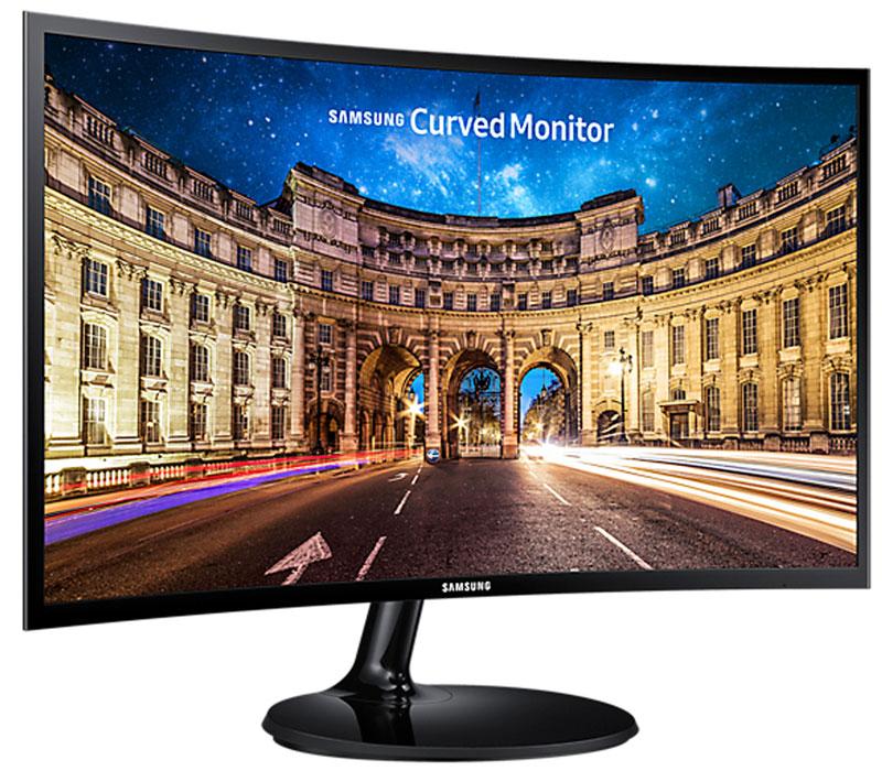 Samsung LC24F390FHI, Black мониторLC24F390FHIXCIЖК-монитор Samsung C24F390FHI обладает компактными размерами и естественной цветопередачей. Изогнутая форма экрана разработана специально для максимального погружения в происходящее на экране. Такая форма также гарантирует широкие углы обзора – изображение остается четким и ярким по центру и краям. Модель подходит для работы и развлечений. Малое время отклика снижает подвисание и повышает четкость изображения во время динамических сцен. Матовое покрытие экрана исключает блики и отсветы, снижающие качество изображения. На задней панели есть крепление для размещения на стене, что позволяет сэкономить место и использовать монитор в качестве телевизора. LED-подсветка монитора снижает энергопотребление вне зависимости от выполняемых процессов. На корпусе монитора расположены два видеоразъёма для подключения к компьютеру, а также вход для наушников.