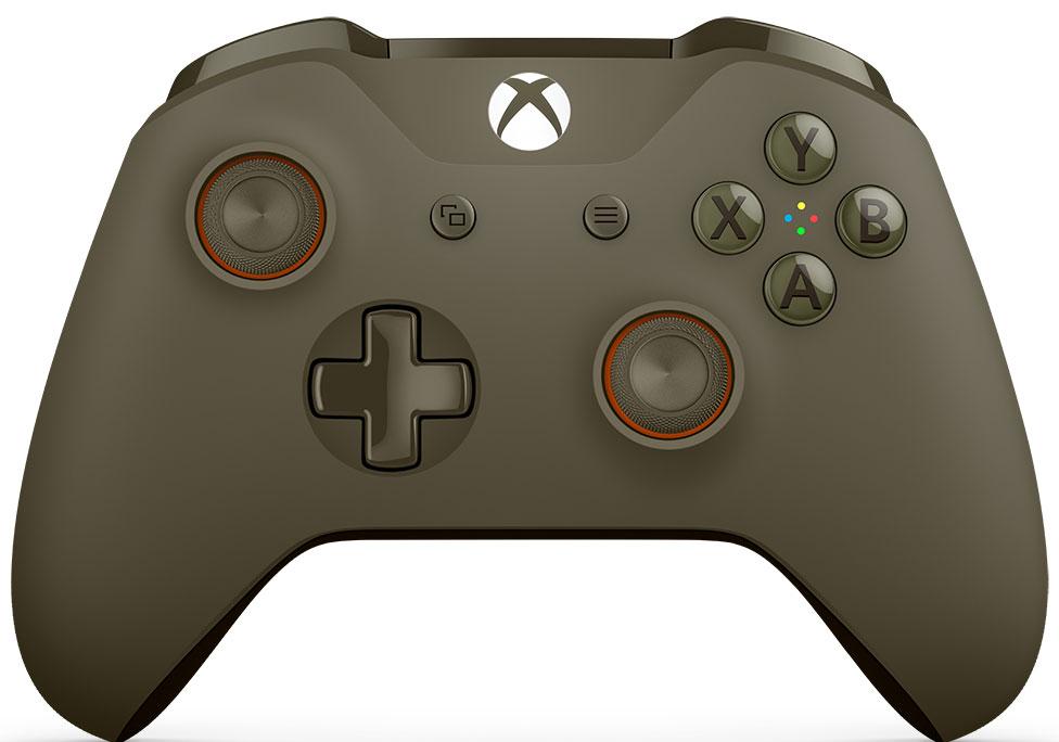 Microsoft Xbox One беспроводной геймпад цвет оливковый WL3-00036