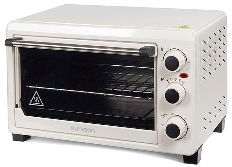 Oursson MO2305/IV мини-духовкаMO2305/IVКомпактная и мобильная мини-печь Oursson MO2305 объемом 23 литра станет вашей любимой помощницей на кухне, как дома, так и на даче. Она легко заменит полноценную духовку, и вы сможете порадовать себя и своих близких вкуснейшей домашней выпечкой, ароматным мясом или птицей на вертеле, или полезными овощными запеканками. Благодаря подсветке, автоматически включающейся при работе прибора, вы всегда сможете наблюдать за процессом приготовления. Таймер со звуковым сигналом известит о завершении работы, а функция автоотключения не даст подгореть блюду, если вы будете заняты другими делами. В комплекте есть решетка, эмалированный противень, круглая форма для пиццы, вертел, а также удобные ручки для вертела и для противня для извлечения приготовленных блюд из духовки.