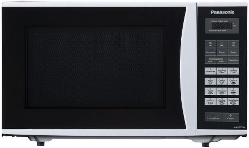 Panasonic NN-GT352WZTE микроволновая печьNN-GT352WZTEПростая и надежная в обращении новая микроволновая печь Panasonic NN-GT352WZTE с сенсорным управлением поможет вам сэкономить ваше драгоценное время. Она быстро разогреет любое блюдо или разморозит необходимый продукт. Экологически чистый материал корпуса и рабочей камеры - эмалированная сталь, гарантирует полезность ваших блюд, а белый цвет корпуса украсит любую кухню. Диаметр поддона: 28,5 см