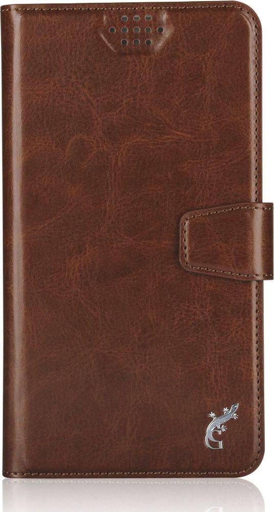 G-Case Slim Premium универсальный чехол для смартфонов 5-5,5, BrownGG-780