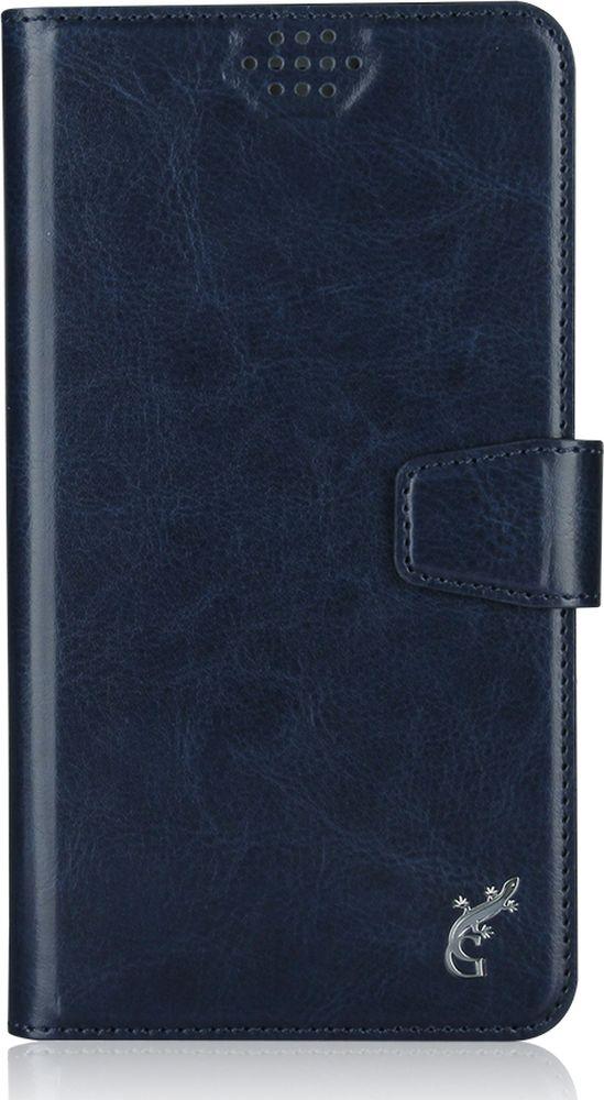 G-Case Slim Premium универсальный чехол для смартфонов 5-5,5, Dark BlueGG-786Стильный универсальный чехол-книжка G-Case Slim Premium подходит для смартфонов с диагональю от 5 до 5,5 дюймов. Выполнен из высококачественных материалов и служит для защиты корпуса и экрана от царапин, пыли и падений. Чехол надежно фиксирует устройство. Имеет свободный доступ ко всем разъемам и камере устройства.