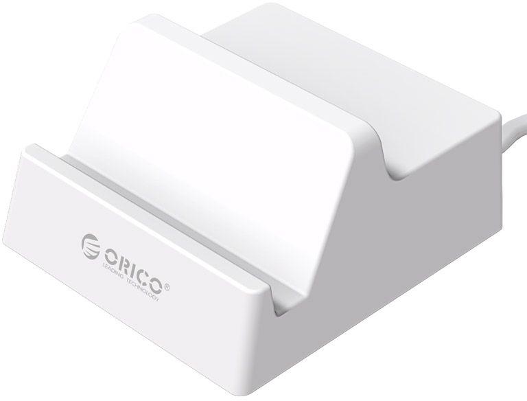 Orico CHK-4U зарядное устройство + подставкаCHK-4UOrico CHK-4U USB 4-Ports представляет собой зарядное устройство с 4 USB портами, которое позволяет заряжать до 4 устройств одновременно. Сила тока на выходе для каждого порта составляет 2.4 A. Данная модель обладает лаконичным эргономичным дизайном, не займет много места на вашем столе, прекрасно впишется в рабочее пространство. Стоит отметить, представленное изделие имеет специальное углубление для телефонов и планшетов, в которое они могут быть установлены под удобным для просмотра фильмов углом в 60°. Преимуществом рассматриваемой модели является также тот факт, что она гарантирует полную защиту заряжаемых устройств от короткого замыкания и перенапряжения.