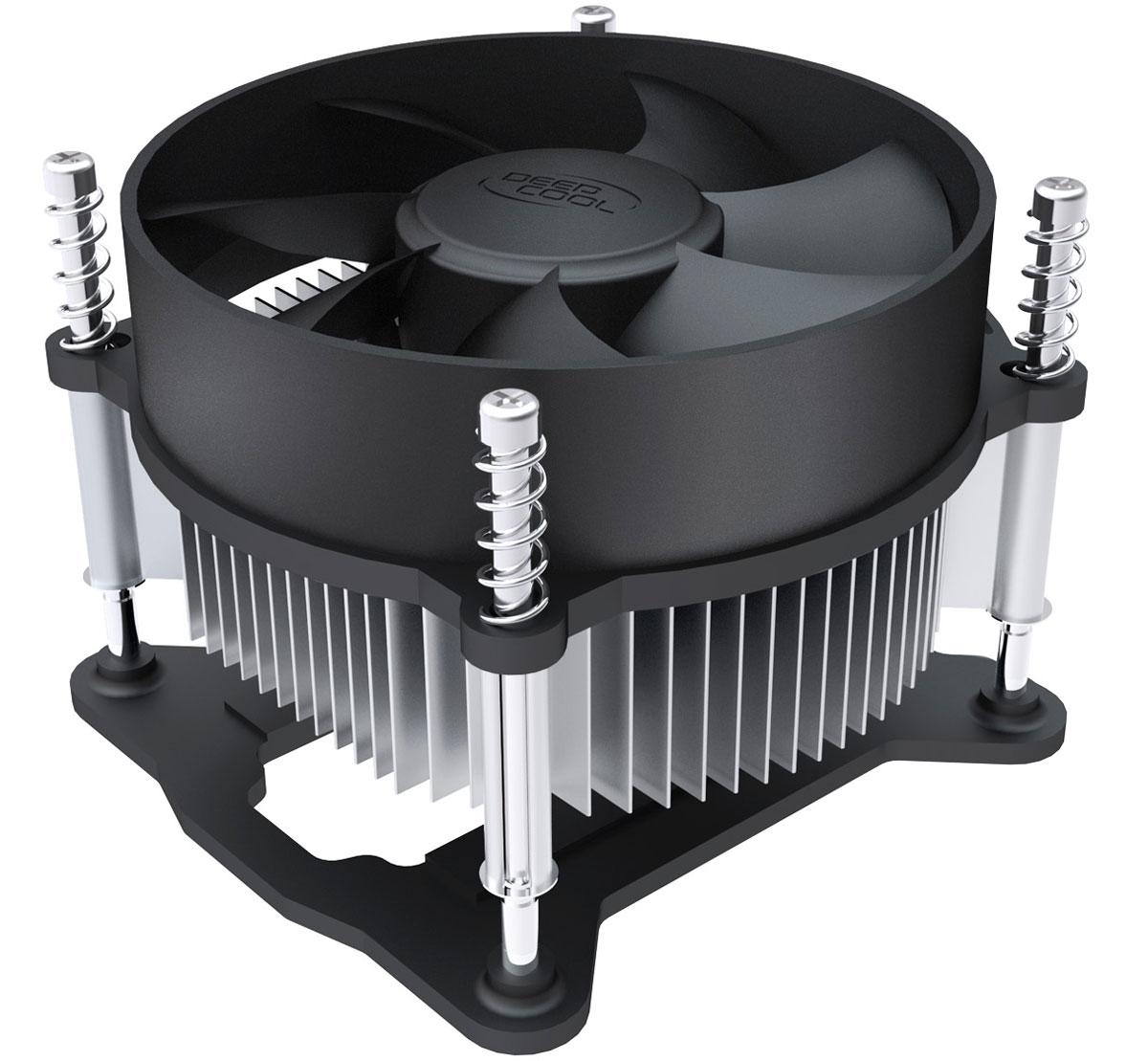 Deepcool CK-11508 кулер компьютерныйCK-11508Кулер для процессора Deepcool CK-11508 совместим с сокетами Intel S1150, S1155 и S1156. Скорость вращения вентилятора составляет 2200 оборотов в минуту при уровне шума в 26.3 дБ. Радиатор кулера выполнен из алюминия. Качественный радиатор с вентилятором диаметром 92 мм для более эффективного рассеивания тепла. Винтовое крепление и задняя планка для обеспечения большей безопасности системы.