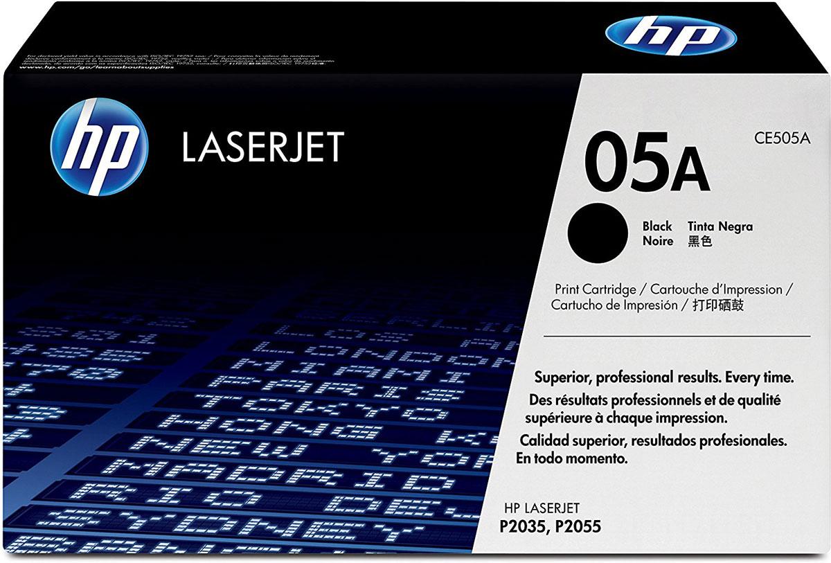 HP CE505A (05A), Black тонер-картридж для LaserJet P2055/P2035CE505AКартриджи HP CE505A (05A) обеспечивает бесперебойную печать. Оригинальные картриджи HP с оригинальным тонером HP гарантируют качественное выполнение задач печати в офисе. Добейтесь превосходного качества черно-белой печати для повседневных нужд. Это недорогое и производительное решение отлично подойдет для печати отчетов, счетов, таблиц и других повседневных документов. Конструкция оригинальных картриджей LaserJet и уникальная формула тонера HP гарантируют неизменно высокое качество печати на протяжении всего срока службы картриджа. Конструкция расходных материалов обеспечивает стабильные показатели ресурса при смене картриджа.